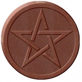 Round Pentacle Chocolate Mold