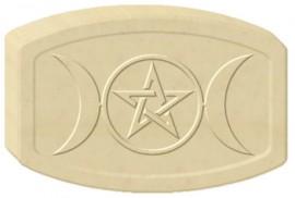 Triple Moon Pentacle Soap Mold